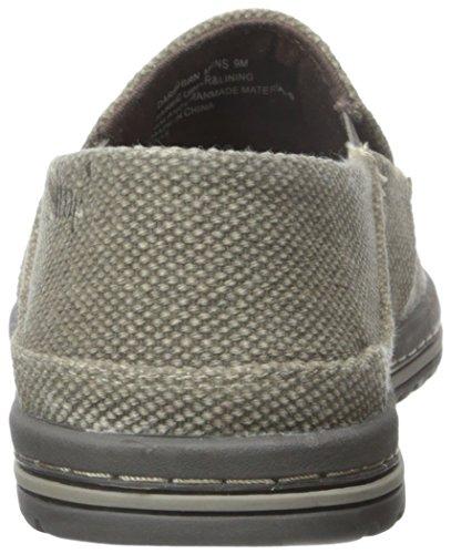 Eenvoudige Heren Durf-1 Slip-on Loafer Donkerbruine Stof