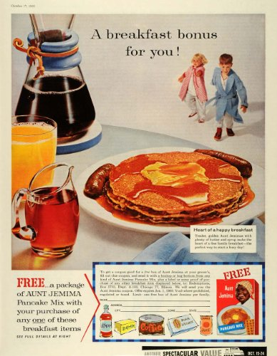1959-ad-breakfast-bonus-aunt-jemima-pancake-mix-free-food-coupon-coffee-sausage-original-print-ad