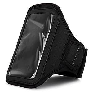 Athletes Choice Black Neoprene Workout Armband for BlackBerry Q5 / Q10 / Z10 / Porsche Design P9982 Smartphones