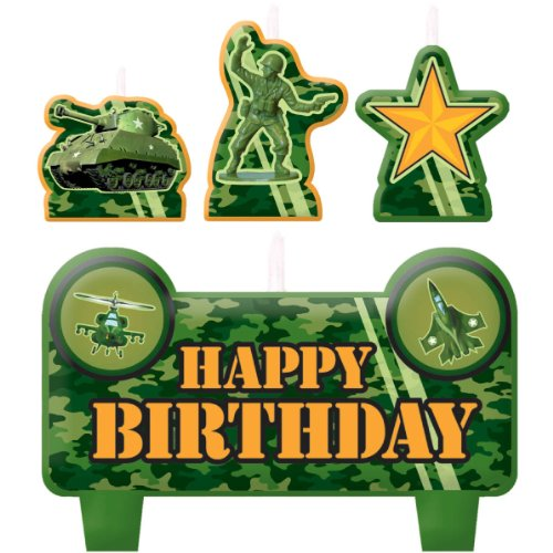 Camouflage Birthday Candle Set -