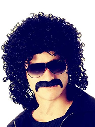 New fashion design male wigs synthetic hair black curly man wig men short black cosplay wig