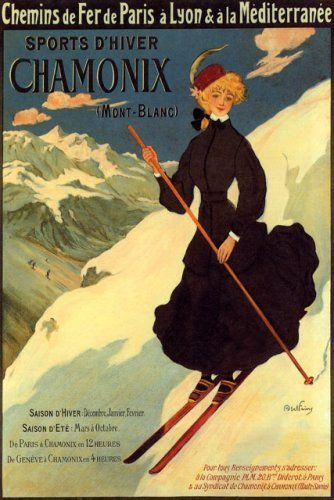(SPORTS D'HIVER WINTER CHAMONIX MONT BLANC FRANCE GIRL DOWNHILL SKIING SKI 20
