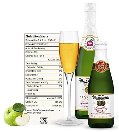 Amazon Com Martinelli S Gold Medal Sparkling Apple Cider 8 4 Oz Pack Of 12 Bottles Grocery Gourmet Food