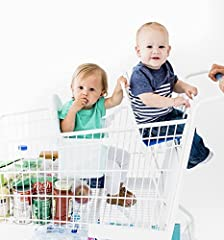 Buggy Bench Shopping Cart Seat is a more practical, hygienic, and safer alternative to allowing a child to sit in the basket of a shopping cart. Once unfolded, Buggy Bench turns into a seat that keeps your baby safe and secure inside the carg...