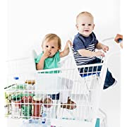 Buggy Bench Shopping Cart Seat in Mint Green (New Color) for Baby, Toddler, and Twins (up to 40 pounds)
