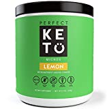 Perfect Keto Greens Superfood Powder: Super Micro Green Drink & MCT Oil - Best as Low Carb Ketogenic Diet Supplement for Ketosis- Amazing for Ketones and Athletic Diets | (Lemon)