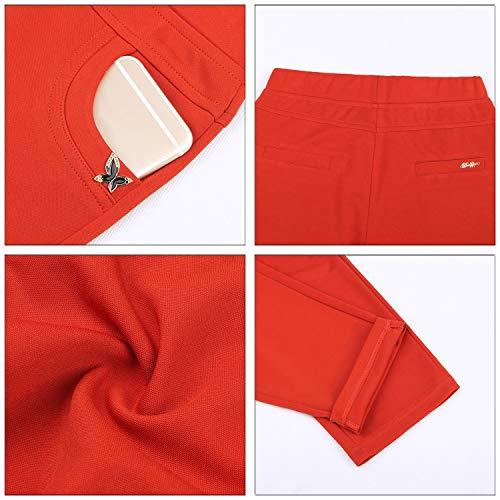 Forti Pantaloni Kindoyo Casual Estate Taglie Vita Donna Solido Pi Cropped Colore Elastico qq8n5OS