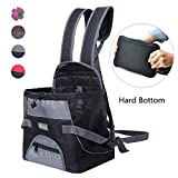 Wellver Dog Carriers Front Pack Pet Backpack Carrier For Small Dogs Cats with Hard Bottom,Small