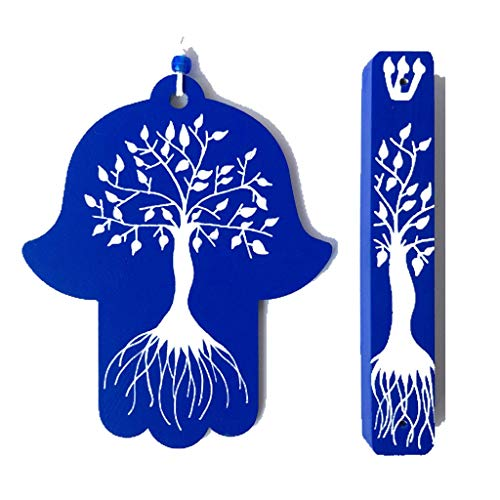 [해외]Tree of Life Hamsa Wall Art and Mezuzah / Tree of Life Hamsa Wall Art and Mezuzah