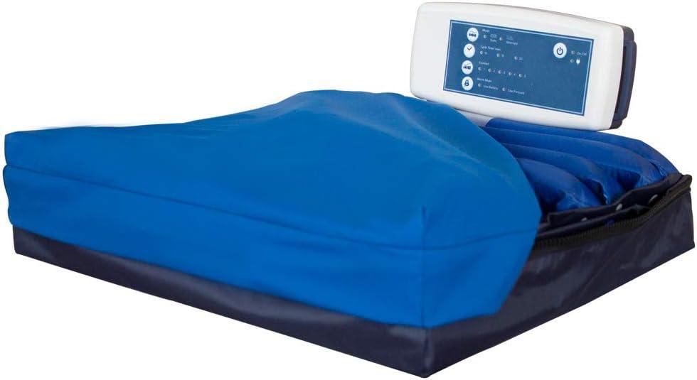 Mobiclinic, ARES, Cojín antiescaras de aire, Cojín ortopédico antiescaras, Alternancia de celdas, con compresor, Regulable
