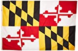 Annin Flagmakers Model 142370 Maryland State Flag 4×6 ft. Nylon SolarGuard Nyl-Glo 100% Made in USA to Official State Design Specifications. Review