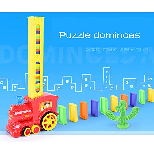 Wenini Domino Train Toy, Domino Automatic Delivery Train Toy Building Blocks Vehicle Stacking Toy, Developing Intelligence Toys for Children (Domino Train Toy)