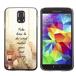 TopCaseStore / la caja del caucho duro de la cubierta de protección de la piel - Motivational Artist Paint - Samsung Galaxy S5 SM-G900