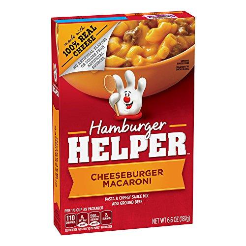 (Betty Crocker Hamburger Helper, Cheeseburger Macaroni Hamburger Helper, 6.6 Oz Box)