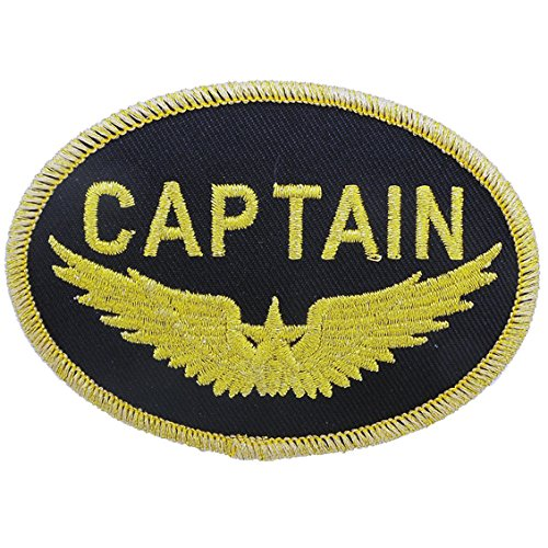 Aviation Collectibles International Captain Gold Wings Patch (Iron On Application)
