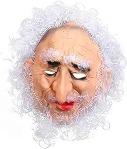 Amosfun máscara de Halloween para Disfraz de Cosplay (Blanco Pelo ...