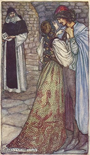 Posterazzi Tales from Shakespeare 1909 Cell of Friar Lawrence Poster Print by A. Rackham, (24 x 36)