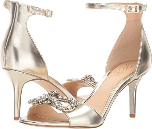 Badgley Mischka Jewel Women's Miguela Heeled Sandal, Gold/Metallic, 6 M - Metallic Jewel Sandals
