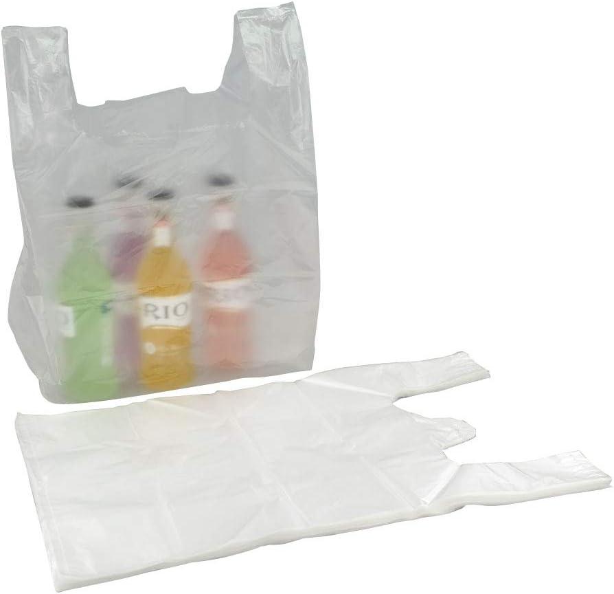 Bblie 240 Sacs de Transport Transparents en Plastique avec Poign/ées Sac de Shopping avec Anse