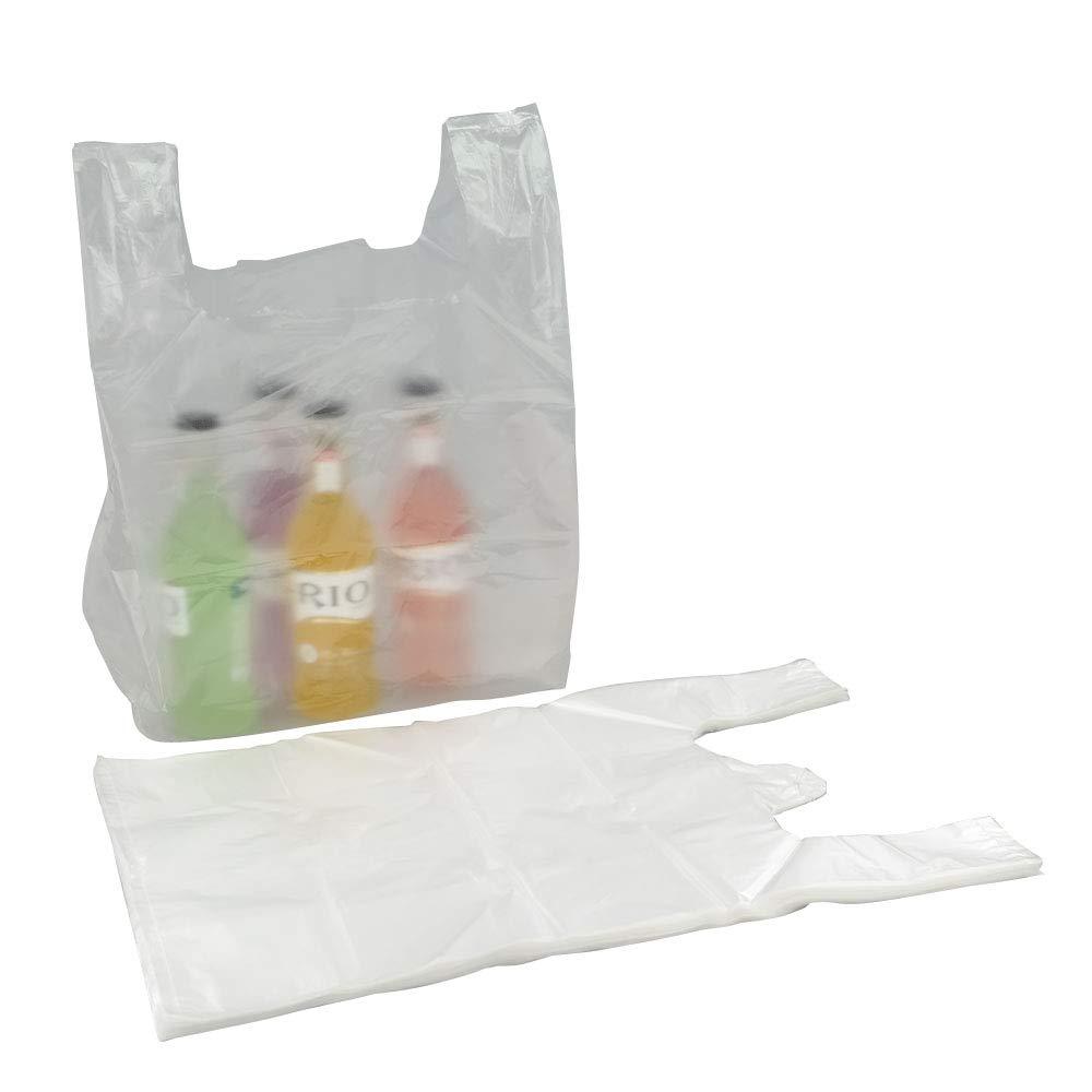 Bblie 240 Sacchetti trasparenti in plastica con manici