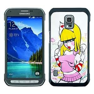 Samsung Galaxy S5 Active Fafi Girl Black Screen Phone Case Unique and Custom Design