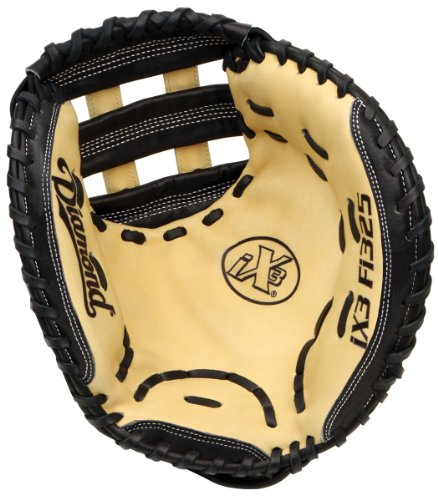 Diamond Fast Pitch Catcher's Mitt-Righty for Right Handed Thrower, Cream/Black