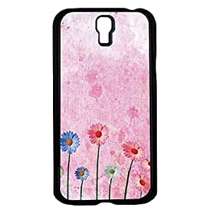 Painted Pink Sun Flowers on Canvas Background Hard Snap on Phone Case (Galaxy s4 IV)