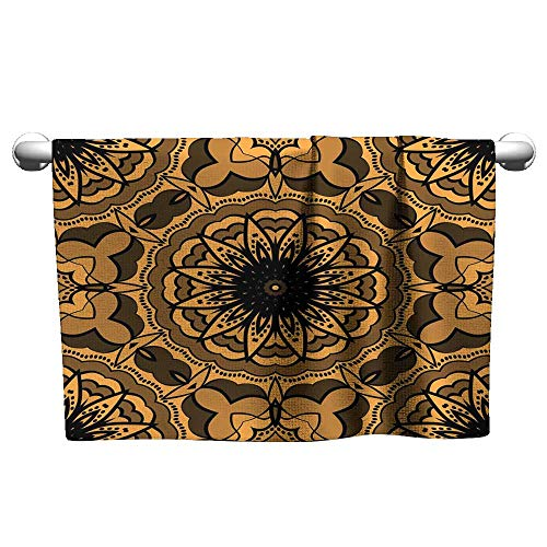 Hand Towel Seamless Art Deco Floral Pattern with Modern Style Ornament on Color Background for Wallpaper Cover Book Fabric scrapbooks 11,Hooded Towel for Adults