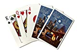 night at the museum free - Austin, Texas - Skyline at Night (Playing Card Deck - 52 Card Poker Size with Jokers)