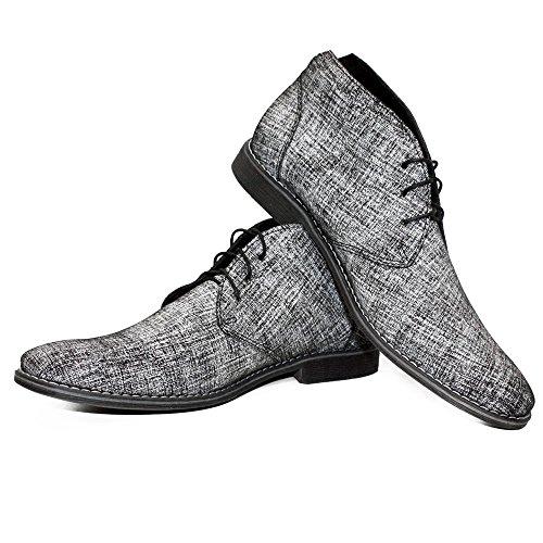 Italienisch Modello Grau Wildleder Stiefel Rindsleder Chukka Schnüren PeppeShoes Herren Grislo Leder Stiefeletten Handgemachtes qtWSFPgS