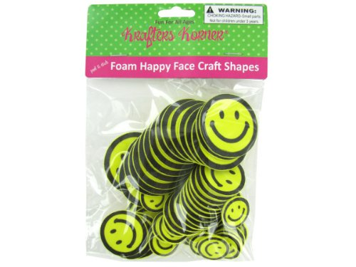 Foam happy face craft shapes - 36 - Types Face Shape
