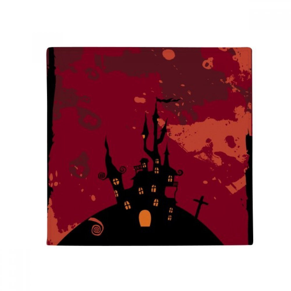 DIYthinker Castle Ghost Fear Halloween Pumpkin Anti-Slip Floor Pet Mat Square Home Kitchen Door 80Cm Gift