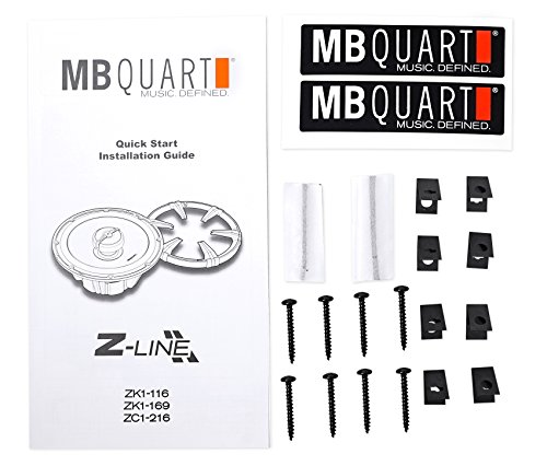 (4) MB Quart ZK1-116 6.5'' 480 Watt Car Audio Speakers w/Ceramic Coated Tweeters by MB Quart (Image #7)