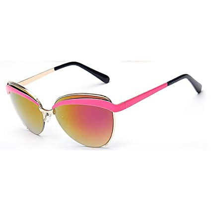 9eb076cb73 Ojos de Gato Estilo Color Lente Gafas de Sol de la señora protección UV  para la