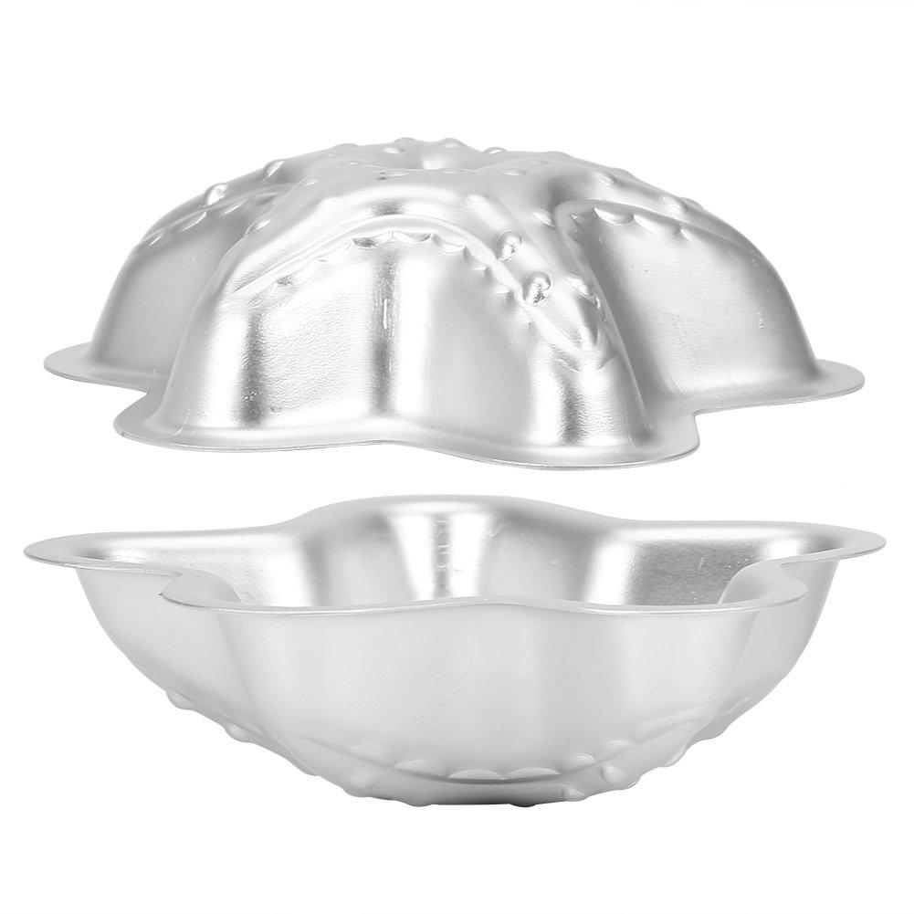 GLOGLOW Stampi di bombe da bagno lega fatta a mano in lega di alluminio Fizzy Crafting Stampo Strumenti per stampi per dolci(Set 10)