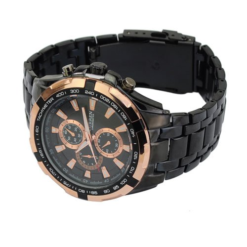 CURREN Boy's Quartz Brass and Alloy Watch, Color:Black (Model: 0)
