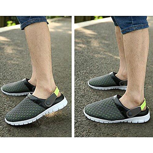 Gris Hombre Vestir Verde Para Sandalias Eastlion De wEI6qXnH