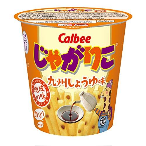 [큐슈 한정] Calbee 카루비 자가리코 큐슈 간장 맛 52g×12개