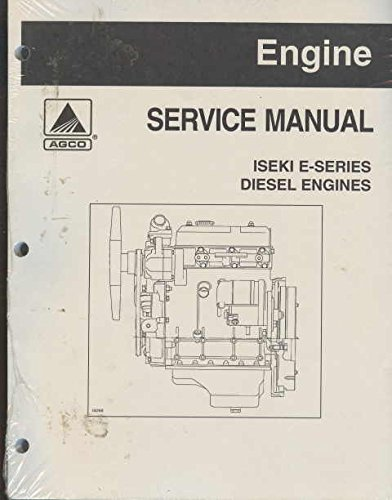 Iseki E Series Diesel Engine Service Repair Overhaul Manual on Cd