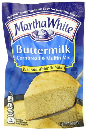 Martha White Buttermilk Cornbread Mix, 6-Ounce (Pack of 12)