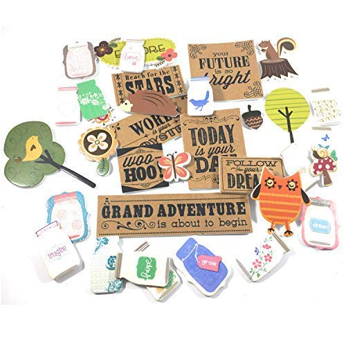 Woodland Country Foam Scrapbook Sticker kit | Grand Adventure Craft Stickers | 3D Craft Embellishments Bundle | 35 Unique Styles