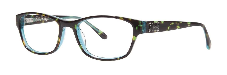 b2202a9a0f LILLY PULITZER Eyeglasses ALEXI Tortoise Aqua 52MM at Amazon Women s  Clothing store  Prescription Eyewear Frames
