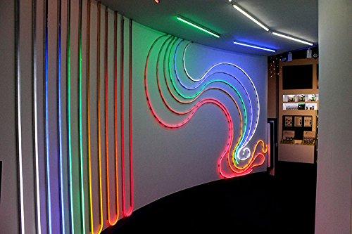 LED LICHTERSCHLAUCH LICHTERKETTE AU/ßEN//INNEN SCHLAUCH ROT 100m inkl.5x LED Lichtschlauch Anschlusssett.