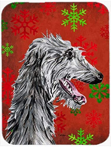 Caroline's Treasures SC9765MP Scottish Deerhound Red Snowflakes Holiday Mouse Pad, Hot Pad or Trivet, Large, Multicolor [並行輸入品]