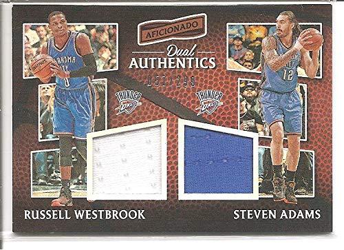 Russell Westbrook Steven Adams Oklahoma City Thunder 2016-17 Panini Aficionado 2-Color Dual Jersey Memorabilia Basketball Card #57/299
