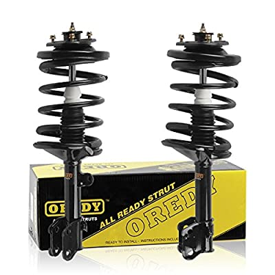 OREDY Front Pair Driver & Passenger Side Complete Struts Shocks Assembly Kit Replacement for Honda Pilot 2003-2008/Acura MDX 2001-2002# 11644 11643 171451 171452