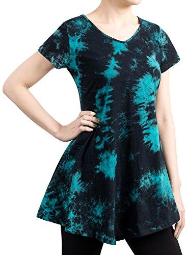 Buy black and grey tie dye dress - 6
