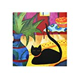 Ceramic Tile, Cat, Size 4''x4'', 34228 BY ACK