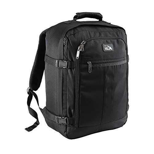 (Cabin Max️ Mini Metz 30 Liter Underseat Carry On Luggage - 18x14x8 Weekender Bag - Ideal Backpack for Weekend Away/Short Breaks - Fits Southwest Airlines and Many More! 1.5lb (Black))