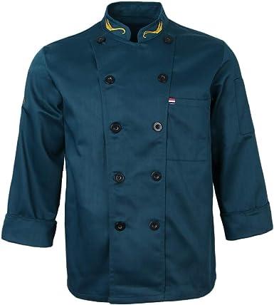 IPOTCH Chaqueta de Poli-algodón Camisa Clásica de Chef Camareras Camareros Uniforme de Hotel Cinco Estrellas Cafetería Servicio de Comidas: Amazon.es: Ropa y accesorios